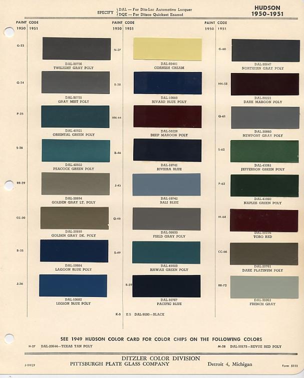 1950 Hudson Paint Colors Question Hudson Essex