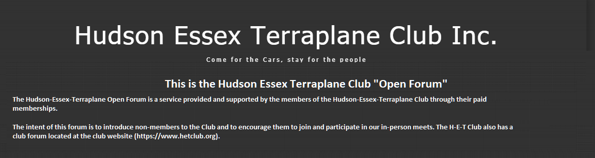 Hudson Essex Terraplane 'Open Forum'
